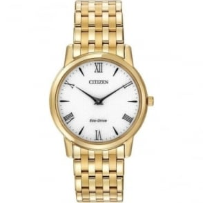 Mans Gold Tone Citizen Eco-Drive Bracelet Watch AR1122-54A