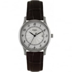 Mans Stainless Steel Battery Watch on Leather Strap GS00792/22