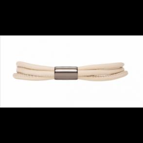 Nude 3-String Leather Bracelet 19cm(7.5inch)