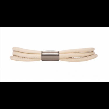 Nude 3-String Leather Bracelet 19cm(7.5inch)