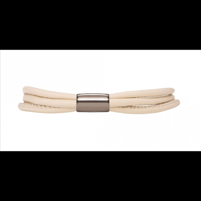 Endless Jewelry Nude 3-String Leather Bracelet 20cm(8.0inch)
