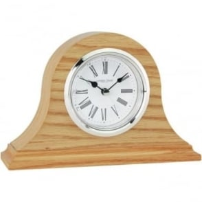 Oak Finish Napoleon Battery Mantle Clock 06315