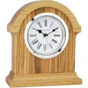 Oak Finish Wooden Mantle Clock Height 183mm 06314