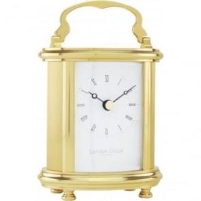 Oval Brass Quartz Carriage Clock 02065