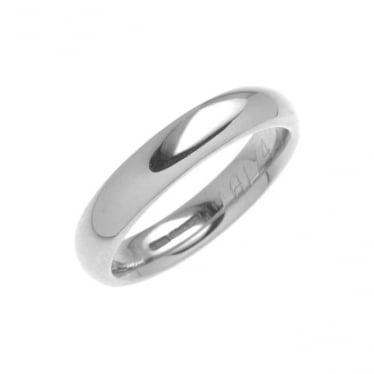 Palladium Court Profile Wedding Band