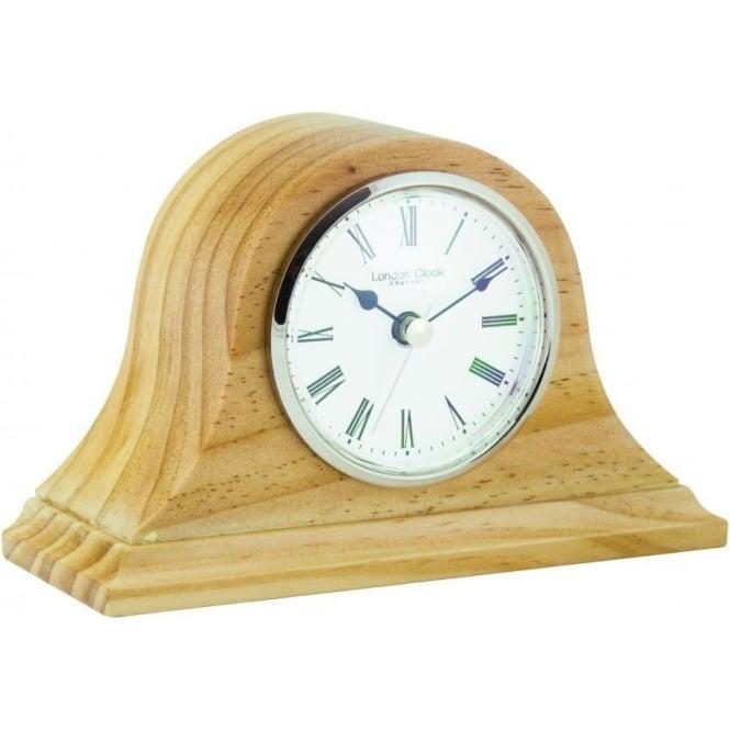 London Clock Company Pine Wooden Napoleon Quartz Battery Mantle Clock 06429