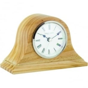 Pine Wooden Napoleon Quartz Battery Mantle Clock 06429