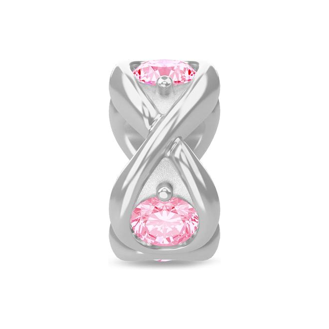 Endless Jewelry Pink Infinity Ocean Silver