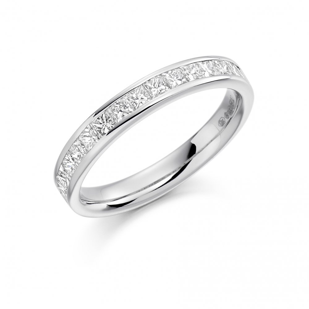 Womens Platinum Diamond Set Wedding Band or Eternity Ring Chester af824521ea