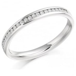 Platinum Channel Set Diamond Wedding Band or Eternity Ring
