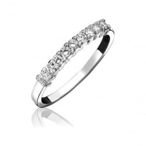 Platinum Claw Set Diamond 0.24ct Half Eternity Ring