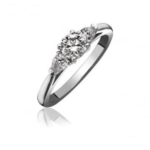 Platinum Claw Set Diamond 0.45ct Engagement Ring