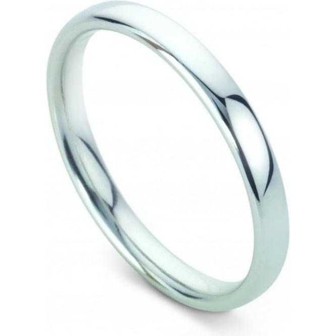 Platinum Plain Polished Wedding Ring 2.5mm Wide