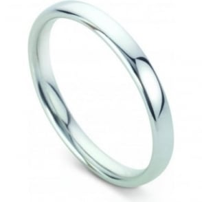 Platinum Plain Polished Wedding Ring 2.5mm Wide
