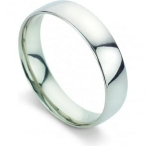 Platinum Plain Polished Wedding Ring 5mm Wide