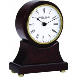 Polished Wooden Battery Mantle Clock 06395