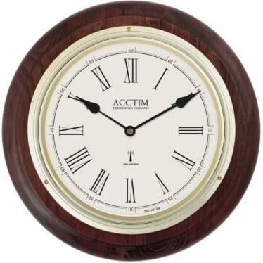 Radio Controlled Quartz Battery Wooden Wall Clock Thetford 74546