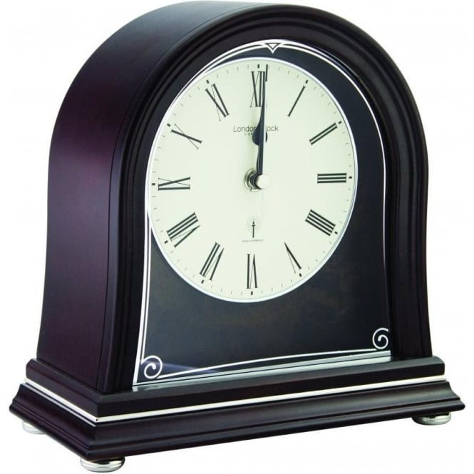 London Clock Company Radio controlled Wooden Mantle Clock 06412