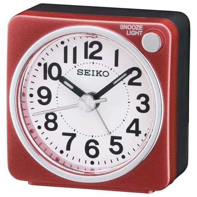 Seiko Clocks Red Battery Beep Alarm Clock QHE118R