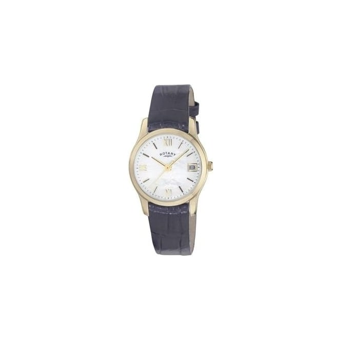 Rotary Watches Ladies Gold Tone Rotary Quartz Watch on Leather Strap LS02368/41
