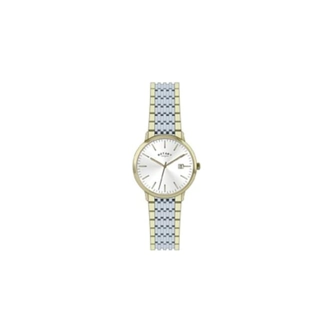 rotary ladies two tone battery watch on bracelet lb02757 03 rotary watches ladies two tone battery watch on bracelet lb02757 03