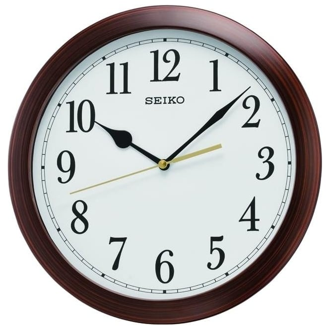 Seiko Clocks Round Battery Wall Clock Diameter 28cm QXA597B