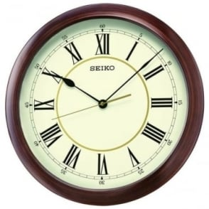Round Quartz Wall Clock with Roman Numarals QXA598A