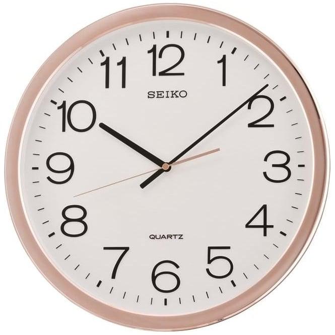 Seiko Clocks Round Seiko Battery Wall Clock with Arabic Dial QXA620P