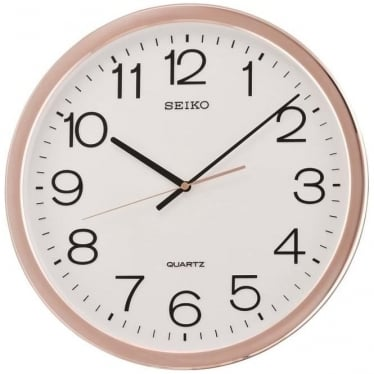 Round Seiko Battery Wall Clock with Arabic Dial QXA620P