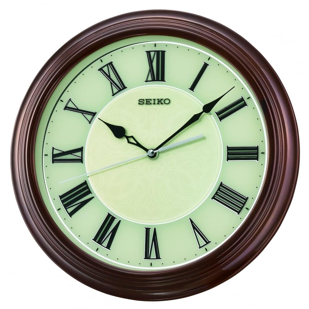 Round Seiko Quartz Battery Wall Clock Roman Numerals Qxa667z