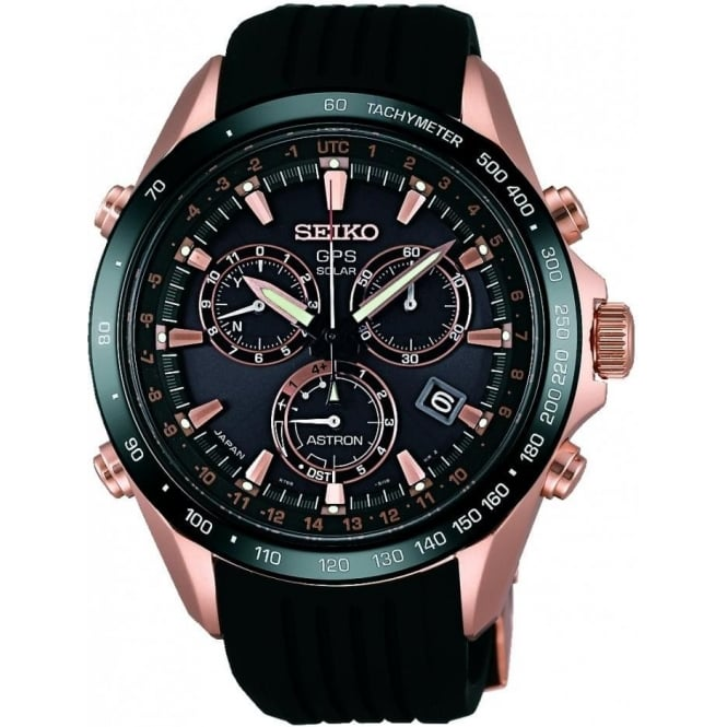 Seiko Astron Gents Rose Tone Limited Edition GPS Watch on Strap SSE022J1