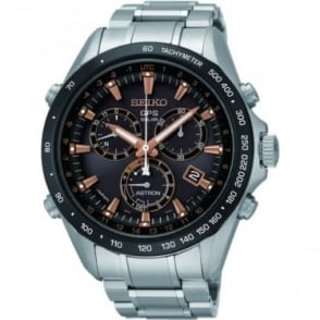 Gents Stainless Steel Radio Controlled GPS Watch SSE033J1