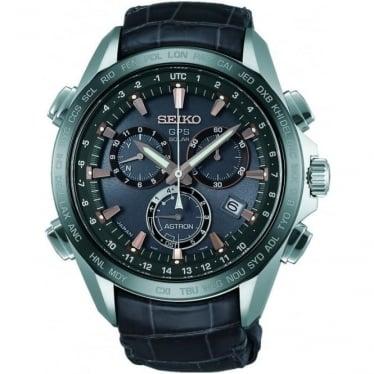 Gents Titanium Solar GPS Watch on Leather Strap SSE023J1