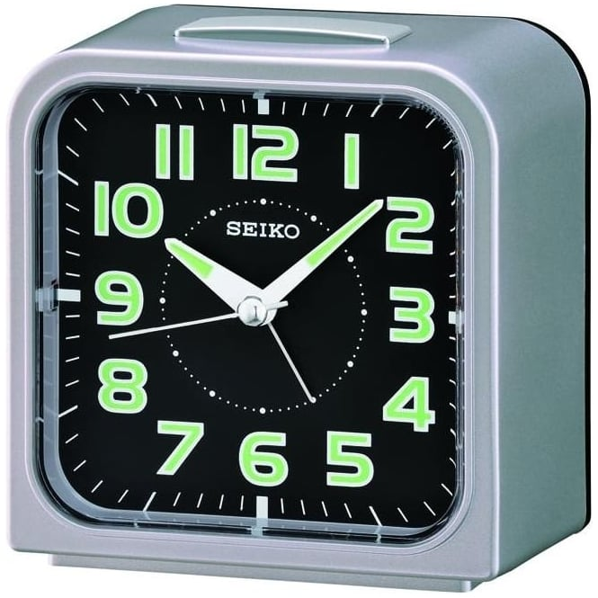 Seiko Clocks Seiko Bell Alarm Clock Height 10cm QHK025S