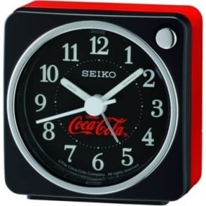 Beep Black Alarm Clock Coca Cola QHE905K