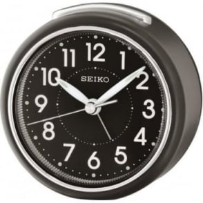 Seiko Beep Alarm Clock - Black with Light QHE125K
