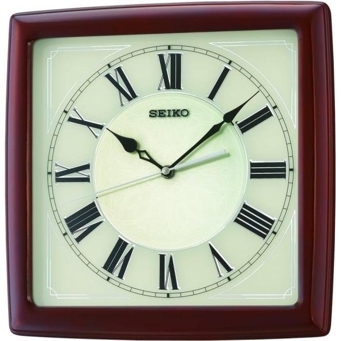Seiko Clocks Seiko High Polish Wooden Wall Clock QXA687Z