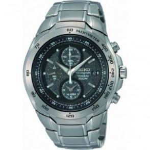 Seiko Watches Seiko Men's Titanium Alarm Chronograph Watch SNAB91P1