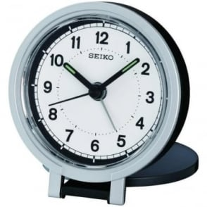 Seiko Quartz Travel Alarm Clock with Snooze & Light QHT011K
