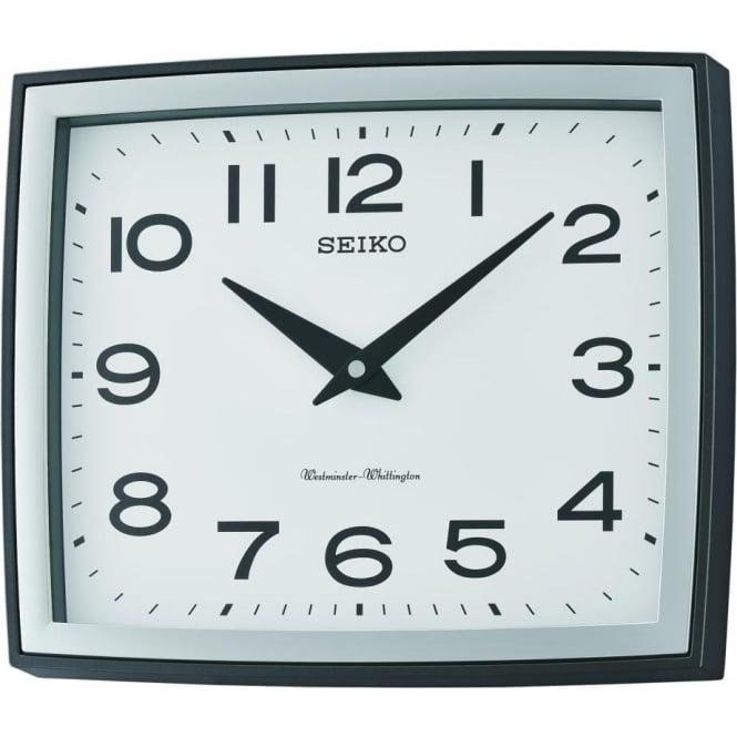 Seiko Clocks Seiko Square Quartz Battery Westminster Chime Wall Clock QXD211K