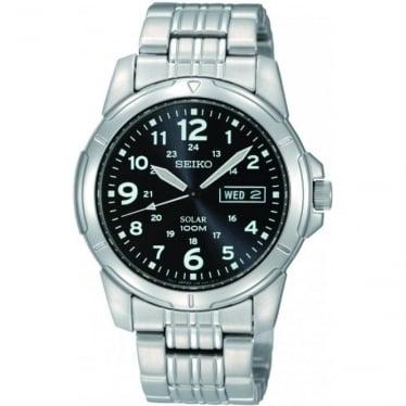 Gents Stainless Steel Solar Bracelet Watch SNE095P1