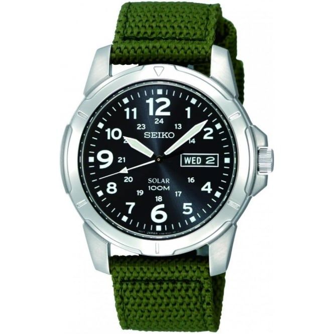 Seiko Watches Gents Stainless Steel Solar Powered Watch SNE095P2