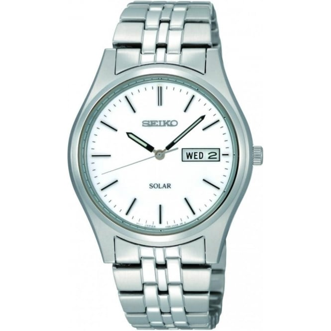 Seiko Watches Gents Stainless Steel Solar Watch on Bracelet SNE031P1