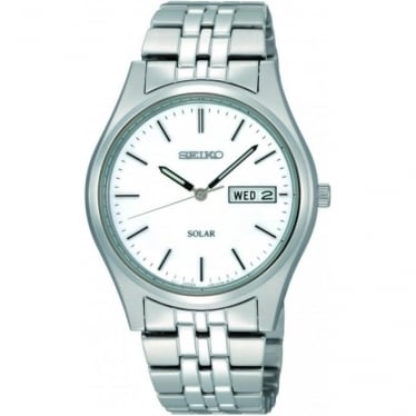 Gents Stainless Steel Solar Watch on Bracelet SNE031P1