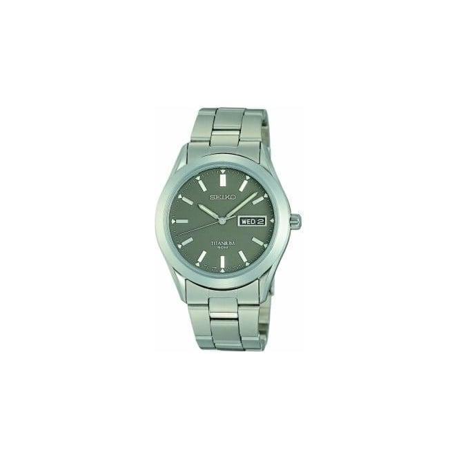 Seiko Watches Gents Titanium Seiko Battery Watch on Bracelet SGG599P1