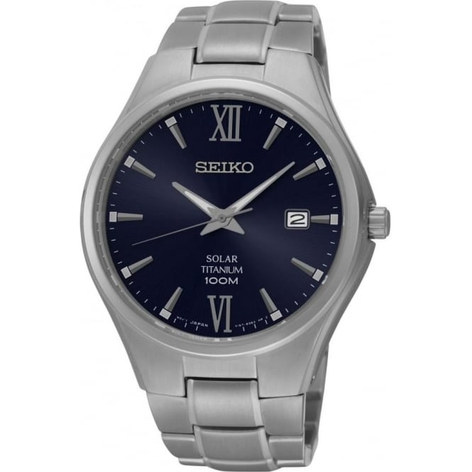 Seiko Watches Gents Titanium Seiko Solar Watch on Bracelet SNE407P1