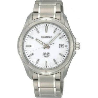 Gents Titanium Solar Watch on Bracelet. SNE139P1