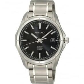 Gents Titanium Solar Watch on Bracelet SNE141P1