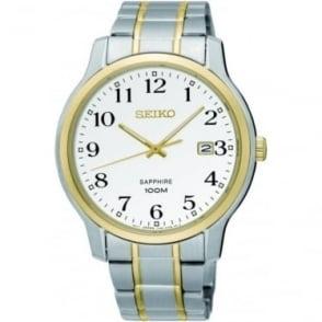 Gents Two Tone Seiko Solar Bracelet Watch SGEH68P1