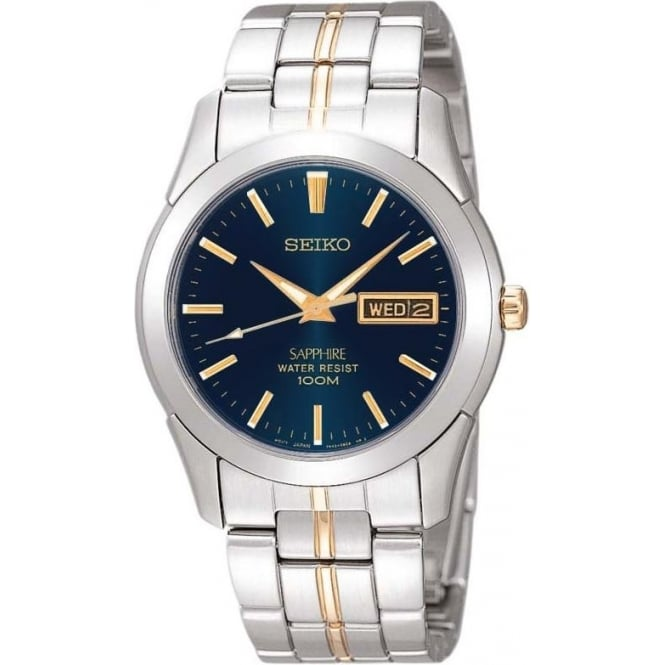 Seiko Watches Gents Two Tone Stainless Steel Bracelet Watch SGGA61P1